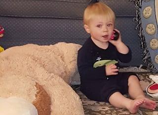 Beau on remote call.jpg